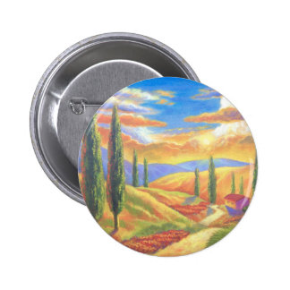 Tuscany Landscape Painting - Multi Buttons