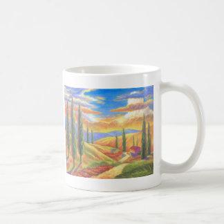 Tuscany Landscape Painting - Multi Coffee Mug