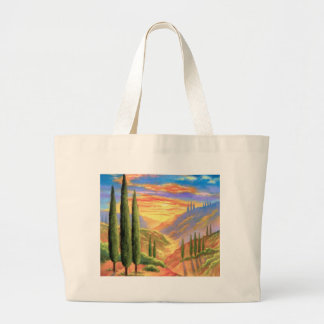 Tuscany Landscape Painting - Multi Large Tote Bag