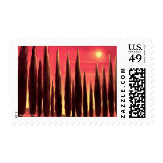 Tuscany Landscape Painting - Multi Stamps