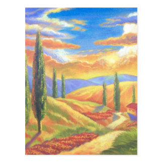 Tuscany Landscape Painting - Multi Postcards