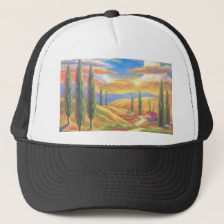 Tuscany Landscape Painting - Multi Trucker Hat