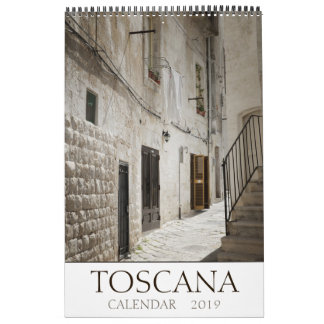 Tuscany landscape photography 2019 calendar
