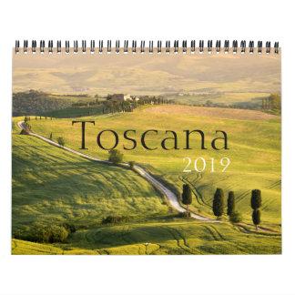 Tuscany landscape photography calendar 2019