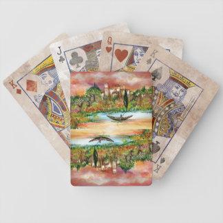 TUSCANY LANDSCAPE RIVER SUNSET CARD DECK