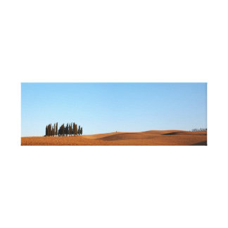 Tuscany landscape with cypresses panorama canvas