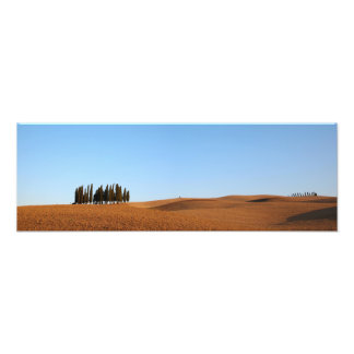 Tuscany landscape with cypresses panorama print