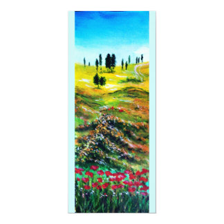 TUSCANY LANDSCAPE WITH POPPIES CARD