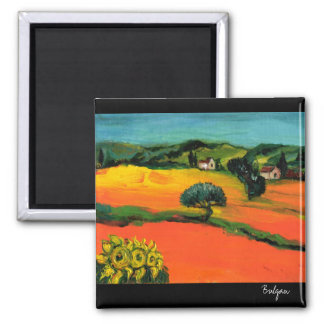 TUSCANY LANDSCAPE WITH SUNFLOWERS MAGNET