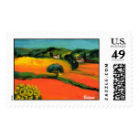 TUSCANY LANDSCAPE WITH SUNFLOWERS STAMP
