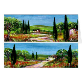 TUSCANY LANDSCAPES GREETING CARDS