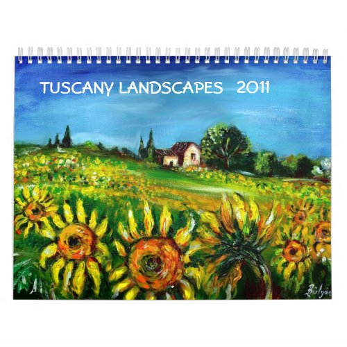 TUSCANY LANDSCAPES COLLECTION 2011 calendar