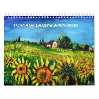 TUSCANY LANDSCAPES COLLECTION 2012 WALL CALENDAR