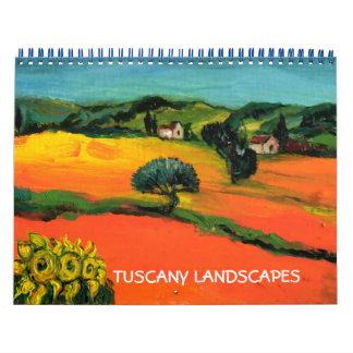TUSCANY LANDSCAPES FINE ART COLLECTION 2017 CALENDAR