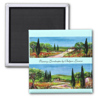 TUSCANY LANDSCAPES MAGNETS