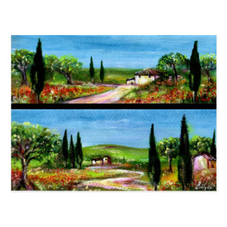 TUSCANY LANDSCAPES POSTCARDS