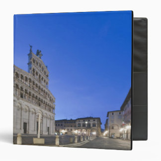 Tuscany, Lucca, Piazza San Michele at Dawn Vinyl Binders