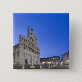 Tuscany, Lucca, Piazza San Michele at Dawn Pinback Button