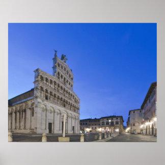Tuscany, Lucca, Piazza San Michele at Dawn Print