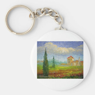 Tuscany Oil Painting Keychain