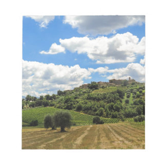 Tuscany, panoramic landscape - Italy Note Pad