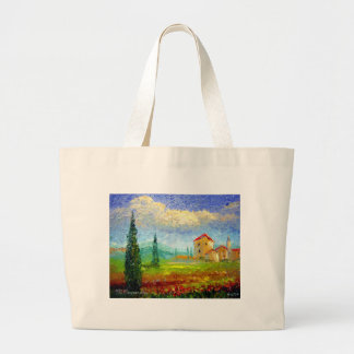 Tuscany Poppies Large Tote Bag