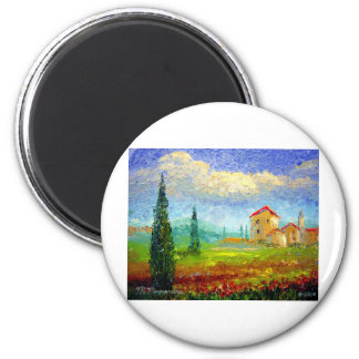 Tuscany Poppies Magnet