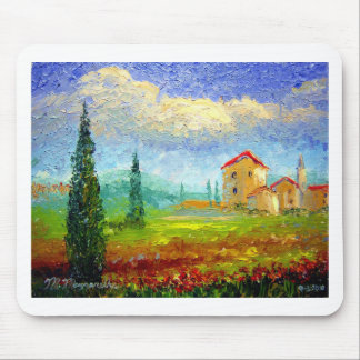 Tuscany Poppies Mouse Pad