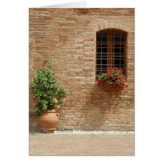 Tuscany pot plants greeting card