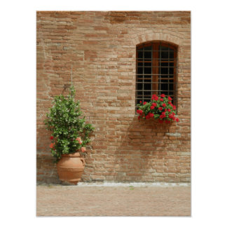 Tuscany pot plants poster