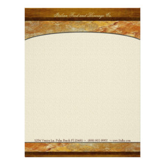 Tuscany Stone Custom Executive Personalized Letterhead
