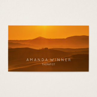 Tuscany Sunset Therapist Psychologist Business Card