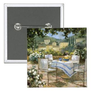 Tuscany Terrace Pinback Button