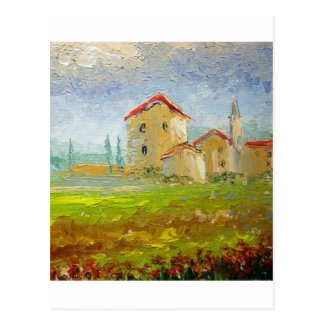 Tuscany Village Palette Postcard