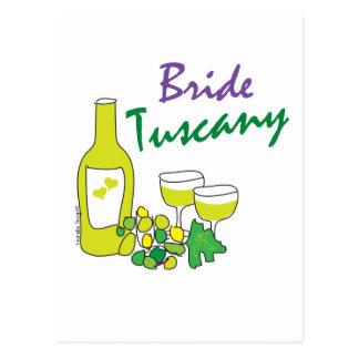 Tuscany Weddings, Bride Post Card