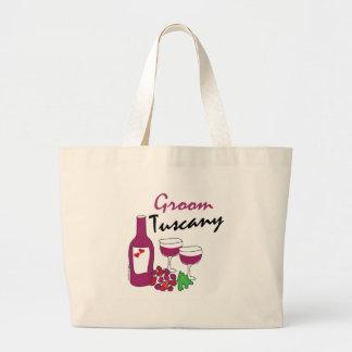 Tuscany Weddings, Groom Large Tote Bag