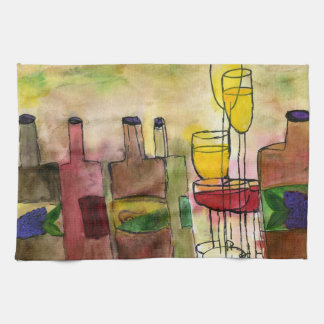 Tuscany Wine Cocktail bar towel from art