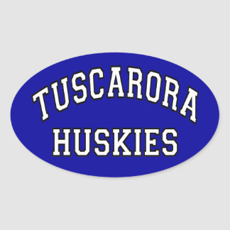Tuscarora Huskies Oval Sticker