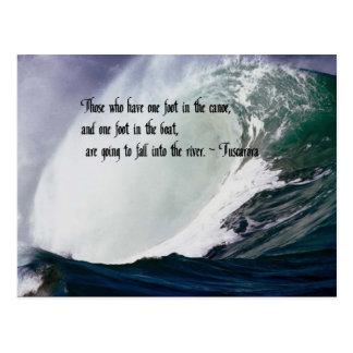 Tuscarora Proverb American Indian quote Postcard