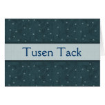 Tusen Tack Swedish Thank You Holiday Snowflake Stationery Note Card