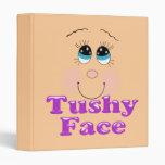 tushy face 3 ring binder