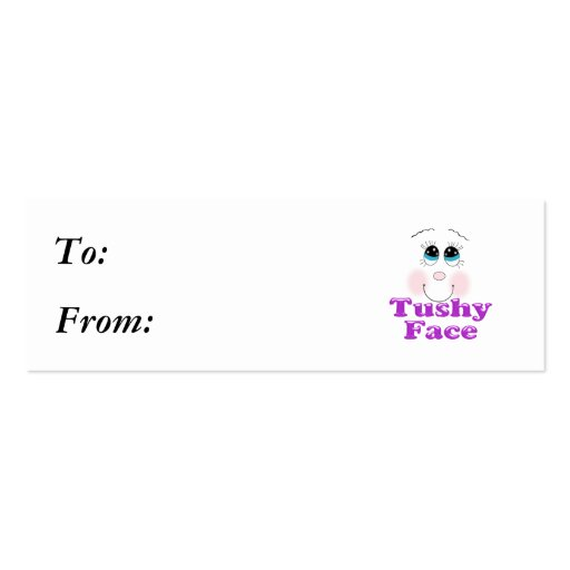 tushy face business card template