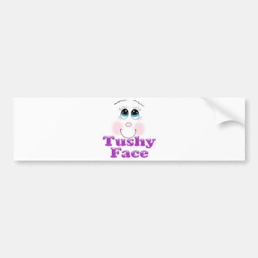 tushy face car bumper sticker