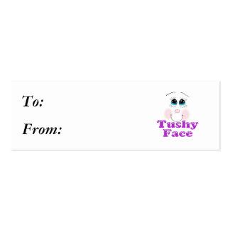 tushy face mini business card