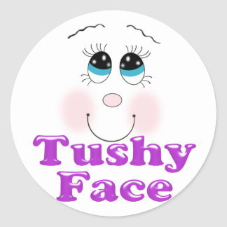 tushy face stickers
