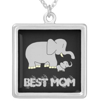 Tusk Love Best Mom Sterling Silver Necklace