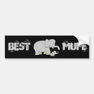 Tusk Love Best Mum! Bumper Sticker