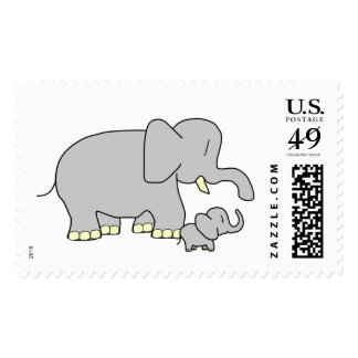Tusk Love World's Best Mum/Dad! US Postage Stamp