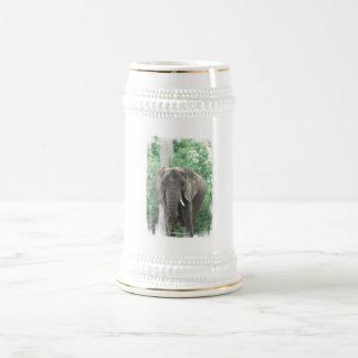 Tusked Elephant  Beer Stein Mug
