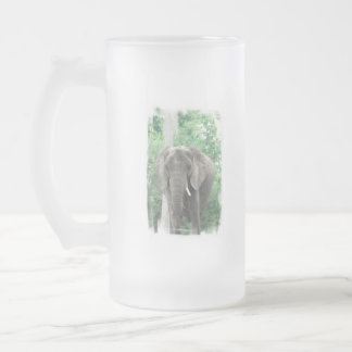 Tusked Elephant  Frosted Beer Mug